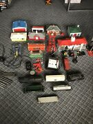 Lionel Train Lot. 1 Engine 6 Cars. Rail Controls Track Signs Full Town