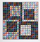 Victor Vasarely Our Mc Screenprint Signed And Numbered In Pencil