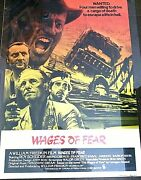 Vintage Film Posters Wagers Of Fear Movie Poster Original Roy Scheider 1977 Arts