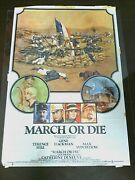 Movie Poster March Or Die Original Gene Hackman Film Posters Motion Picture 1977