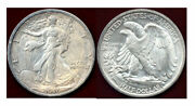 1916- 50c-toning And Mint Luster Walking Liberty Halve ++