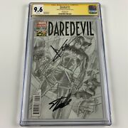 Daredevil 1 Cgc 9.6 Alex Ross 1300 Variant Signed By Charlie Cox And Stan Lee