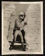 Lone Ranger And The Lost City Of Gold 8x10.25 Still '58 Masked Hero Clayton Moore