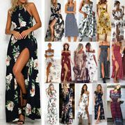 Women's Boho Floral Maxi Dress Summer Holiday Evening Party Cocktail Sun Dresses