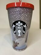 Starbucks 2016 Limited Edition Christmas Red Fox Tumbler 16oz New, With Tag