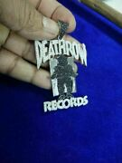 925 Silver Hip Hop Style Pendant Death Row-records Black And White Diamond Studded