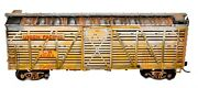 Ho Scale Distressed Realistic Weathered Union Pacific Box Freight Train Car D466