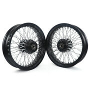 16x3.5 72 Spoke Wheels Set Dual Disc For Harley Dyna Fxd Softail Fxst Sportster
