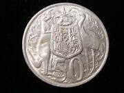 Australian 1966 Round 50 Cents Silver Coin Double Bar Variety Jr Lot 10