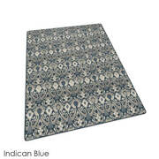 Indican Blue - Relic L Milliken Tufted Pinpoint Saxony 40 Oz. Area Rug