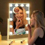 Misavanity Large Hollywood Vanity Makeup Mirror With Wireless Charger White
