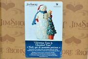 Jim Shore Holiday Snowman With Tree 6006646 Christmas Figurine/sculpture