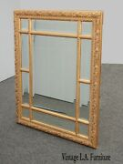 Large 39hx33 Vintage French Ornate Gold Wall Mantle Beveled Mirror By Bombay