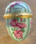 Easter Egg New Antique Halcyon Days Enamel Year 2001 For A Gardener