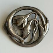 Evald Nielsen Silver Sterling Pin Gorgeous Antique Collectible