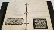 Vintage 1920s Textile Sample Book - Typed And Handwritten W Samples Of Lace ++
