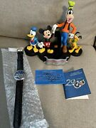 New Walt Disney 2000 Limited Edition Watch And Display Mickey Mouse Donald Pluto