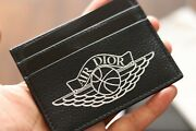 🔥🔥christian Air Dior Card Holder Navy Wings 100 Authentic Purse Business✅✅