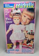 Michelle Meritus 15 Talking Doll Pink Full House 1990 Tested Working In Box