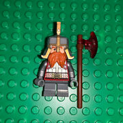 Lego Dain Ironfoot Minifigure Lord Of The Rings Battle Of 5 Armies 79017 Red Axe