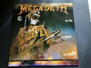 Megadeth Signed Autographed Lp Vinyl So Far So Good So What X4 Dave Mustaine