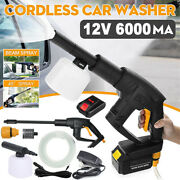 Cordless Pressure Washer Portable Power Cleaner 320 Psi/2.0a Battery W/ Charger