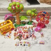 Lalaloopsy Mini Doll Lot Of Figures With Various Pets, Accessories, And Playsets