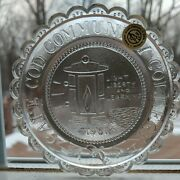 Cape Cod Community College Seal Pairpoint Glass Cup Plate W Barnstable Mass Cccc