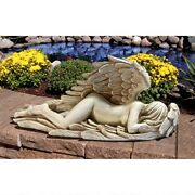 26 Weeping Angel Of Mourning Religious Icon Sculptural Statue By Artist Myers