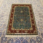 Yilong 3and039x5and039 Floral Handmade Silk Carpet High Density Living Room Rug 288h