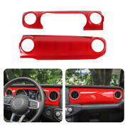 Center Console And Abs Dashboard Kit Trims For 18+ Jeep Wrangler Jl/20 Gladiator A