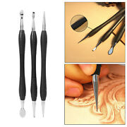 Leathercraft Grooving Rub Double End Leather Cone Spoon Stylus Edge Skiving