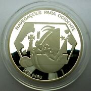 Portugal 200 Escudos 1991 Silver Coin Proof - Stylized Ship T105