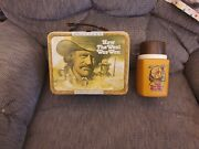 Vintage 1978 How The West Was Won James Arnes Metal Lunch Box With Matching Th