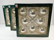 Christmas By Krebs/silver Etched Christmas Balls - Vintage Kmart - 3 Boxes Of
