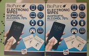 6 Boxes Of 100 Biopure Electronic Cleaning Wipes 100ct Each Box 600 Total Wipes