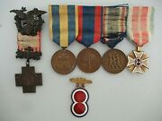 Usa Spanish War Medal Group Of 5 Medals. Army Of Phillipines Medal In Gold Rr