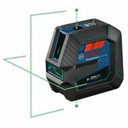 Bosch Gcl100-40g Self-leveling Green Cross-line Laser With Plumb Points