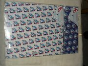 Lot Of 2 Vintage Toronto Blue Jays Wrapping Paper Gift Wrap Packs Blue White Nos