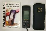 Magellan Color Trak Handheld Gps Portable Receiver With Carrying Pouch.