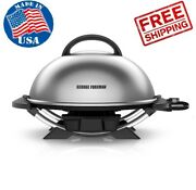 George Foreman 15-serving Indoor/outdoor Portable Electric Nonstick Grill, Bbq
