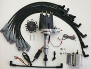 Small Cap Ford 5.0l 302 Efi To Carb Conv Hei Distributor + 8.5mm Wires +60k Coil