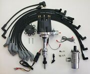 Small Cap Ford 5.0l 302 Efi To Carb Hei Distributor +chrome Coil + 8.5mm Wires