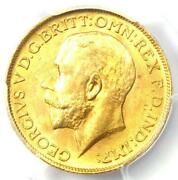 1911 Great Britain England George V Gold Sovereign Coin 1s - Pcgs Ms63 Unc Ms