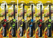 Neon Multi-purpose Refillable Lighters Fireplace Grill Gas Stove Bbq 6 Packs
