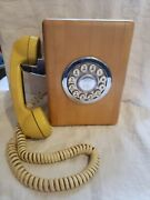 Wood Western Electric Round Push Button Wall Phone