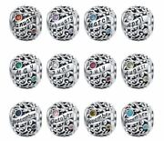 New Birthstone Charm 100 Sterling Silver S925 With Free Pandora Pouch