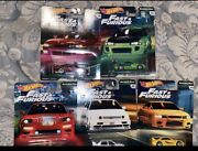 Hot Wheels Fast And Furious Premium Original Cars Complete Set Of 5