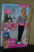 Brand New Barbie Doll Careers Play Set Ice Skating Coach Barbie And Studen Set