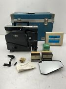 Elmo 16-cl Optical Projector Works Great W/ Extras Japan Free Shipping